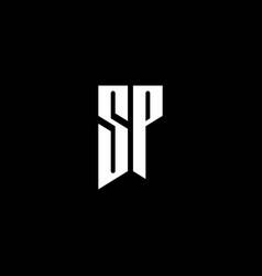 sp logo monogram with emblem style isolated on vector image