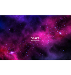 space background with colorful galaxy planet and vector image
