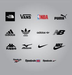 Sport brand logos vector