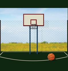 Street basketball vector