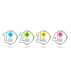 user woman read and security agency icons idea vector image