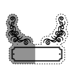 Vintage decorative emblem vector