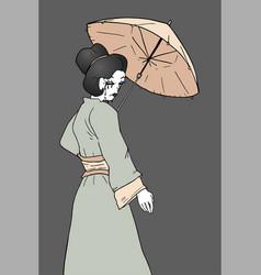 Vintage geisha vector
