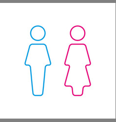 wc icon toilet icon men and women vector image