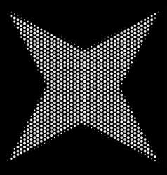 White halftone sparkle star icon vector