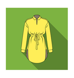 women s shirt with a belt for housework a dirty vector image