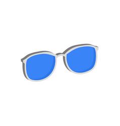 blue glasses eyeglasses symbol flat isometric vector image