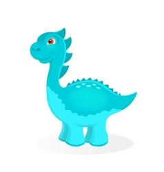 Cartoon dinosaur character vector image vector image