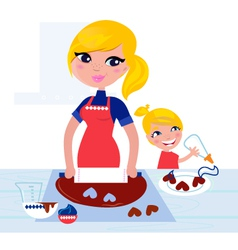 child helping mother vector image