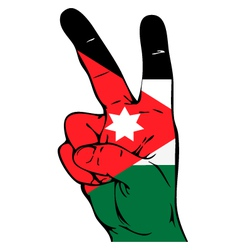 Peace Sign of the Jordan flag vector image vector image
