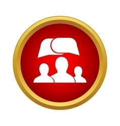 People and dialog speech bubbles icon vector image