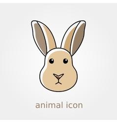 Rabbit icon Farm animal vector image