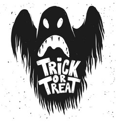 trick or treat scary ghost on white background vector image
