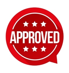 Approved sign badge vector image vector image