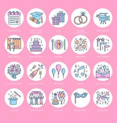 event agency wedding organization line icon vector image