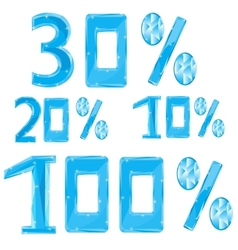 Numerals in ice percent vector image