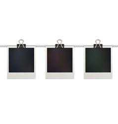 retro polaroid photo frames vector image