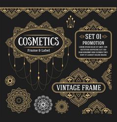 set of retro vintage graphic design vector image vector image