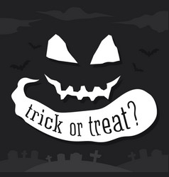 trick or treat text banner vector image vector image