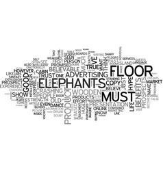 when elephants dance on wooden floors text word vector image vector image