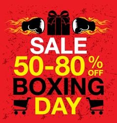 Boxing Day background vector image