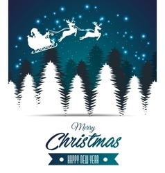 card tree merry christmas and new year design vector image