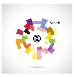 Creative circle abstract logo design vector