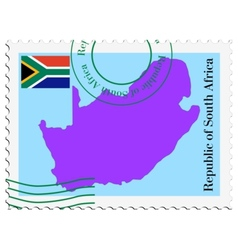 mail to-from South Africa vector image vector image
