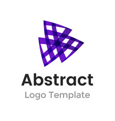triangles logo design template business vector image