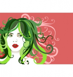 young woman portrait vector image vector image