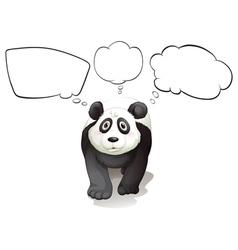 A thinking panda vector image vector image