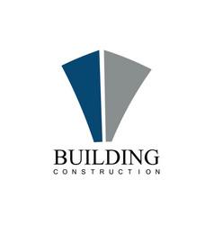 building construction company logo vector image