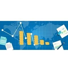 economic financial down crisis recession gdp drop vector image