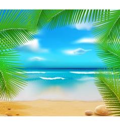 golden beach sunset vector image