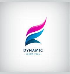 abstract dynamic flow logo dual 2 vector image