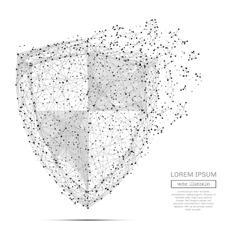 Abstract shield concept gray vector