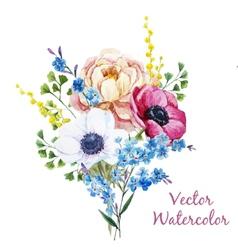 Anemones flowers vector