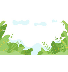 Background with simple abstract leaves vector