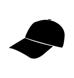 baseball cap black color icon vector image