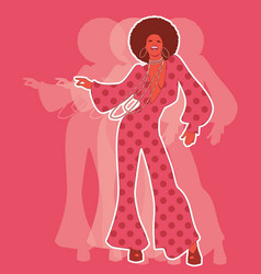 Beautiful afro american girl wearing clothes from vector