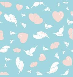 Birds in love seamless pattern vector