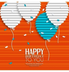 Birthday wish with balloons in style flat vector