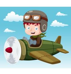 Boy on plane vector