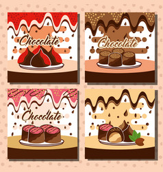 chocolate candy card vector image
