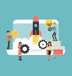 concept set up successful business idea success vector image