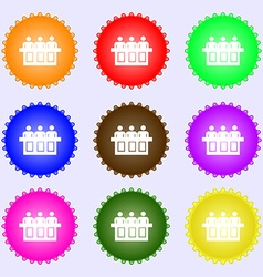 Conference icon sign Big set of colorful diverse vector image