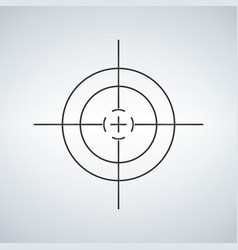 crosshair reticle viewfinder target graphics vector image