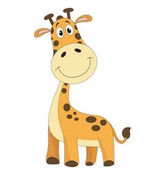 Cute orange giraffe vector