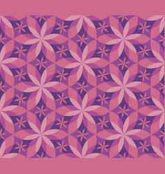 decorative geometric flower seamless pattern vector image
