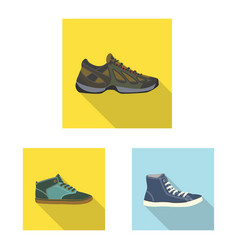 design of shoe and footwear sign vector image